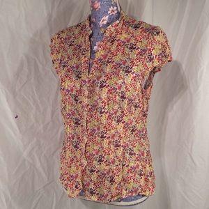 H&M cotton floral button up